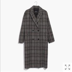 ISO Madewell plaid goodwin oversized topcoat